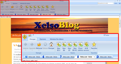 Ejemplo con IETester en Xelso.com .