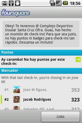 Rapid Fire en Foursquare, Ay Caramba!