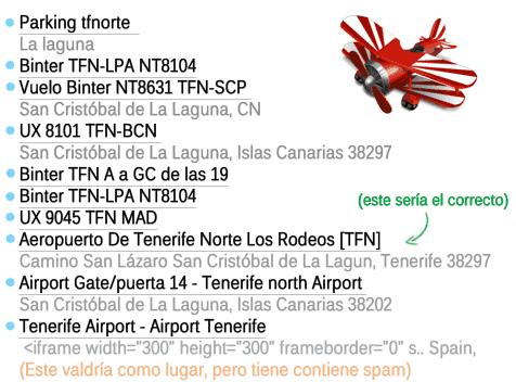 Algunos de los lugares creados en el Aeropuerto de Tenerife Norte