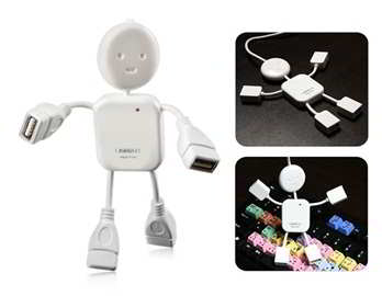 HUB USB con forma de persona ;D