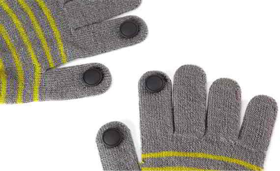 Pins para guantes capacitivos