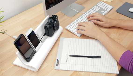 Base de carga de diseño para dispositivos móviles
