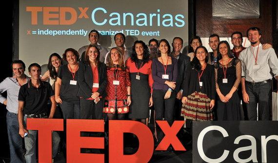 Casi todo el equipo del TEDxCanarias 2012