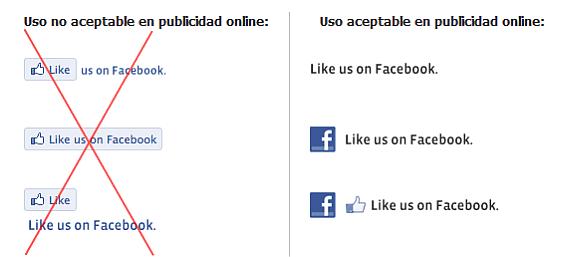 Como no se debe utilizar la marca de facebook