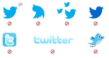 Logos, imagenes, widget, botones de Twitter