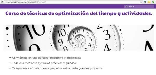 curso de gestión y optimización del tiempo y actividades